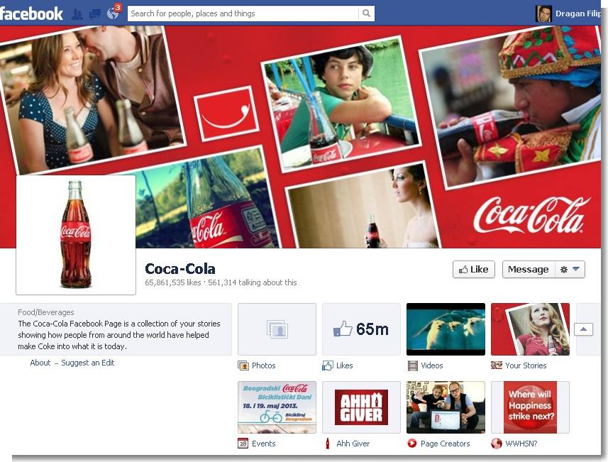 Coca-Cola Facebook tab kurs web dizajna