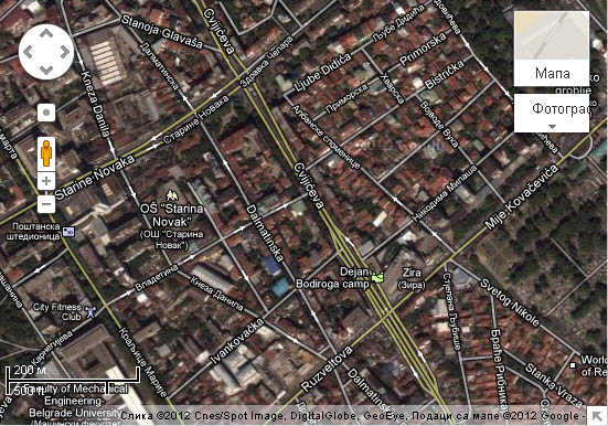 Google maps Belgrade update 2012