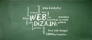 kurs web dizajna kreda na tabli
